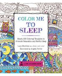 color me to sleep coloring book