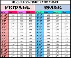 Height To Weight Chart Height To Weight Chart Weight