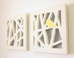 enjoyable design ideas yellow wall art home designing inspiration v sanctuary com bird set and gray