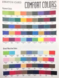 Chouinard Comfort Colors Color Chart
