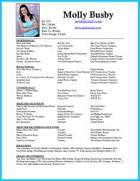 Useful Musical Theatre Resume Template Free For Your Dancer Pics