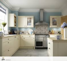 Duck Egg Blue Kitchen Paint This Painted Cream Shaker Door Sits With Duck Egg Walls And Wooden