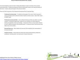 Download School Professional Development Plan Free Word