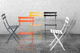 french metal folding chairs. french bistro folding chairs in various colours industrial setting metal s