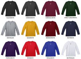Under Armour Color Chart Under Armour Locker Loose Fit Yth Long Sleeve Shirt