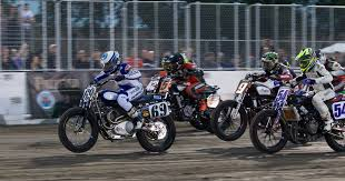 american flat track motorcyclist