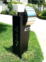 mailbox post design ideas. Mailbox Post Design Ideas Amazing Modern  Package Dark Walnut Inside Mail A
