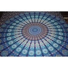 double bedsheet cotton queen size indian mandala tapestry wall hanging home decor from usa zifiti com page