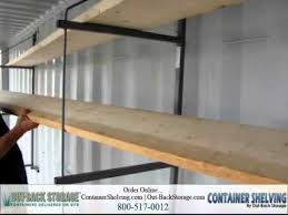 how to install shelves in a container