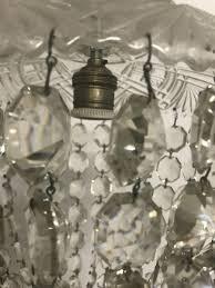 vintage italian crystal light pendant