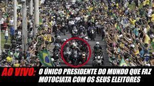 AO VIVO: Motociata em Sao Paulo, Presidente Bolsonaro o único presidente do  mundo que faz motociata! - YouTube