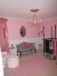 Pink and Black Bow Themed Nursery