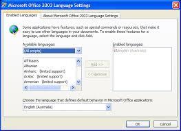 Office 2003 Office 2003 Set The Default Language Cybertext Newsletter