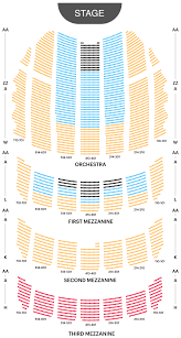 London Music Hall Seating Chart Your A To Z Guide To Broadway Theater Seating Charts