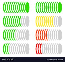 Circle Level Meter Gauge Comparison Chart Color