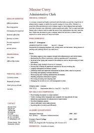 administrative clerk resume  clerical  sample  template  job    administrative clerk resume