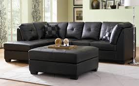 darie black bonded leather sectional sofa jpg