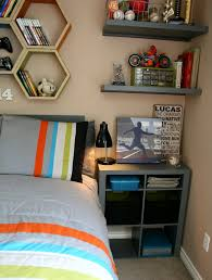 paint colors for teen boy bedrooms. Cool Teen Bedroom Makeover For Boys With Taupe Wall Paint Color And Hexagonal Shelfs Colors Boy Bedrooms