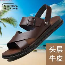 german camel dynamic summer sandals open toe mens casual sandals beach shoes mens leather sandals tide 547167186107