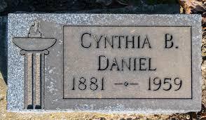 Cynthia Bonita Kirk Daniel (1881-1959) - Find A Grave Memorial