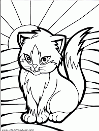Small Picture Coloring Pages 4733 Cute Cat Coloring Pages For Kids Class