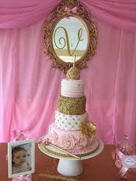 Princess Pink Gold Birthday Party Ideas Gorgeous Cakes Gold