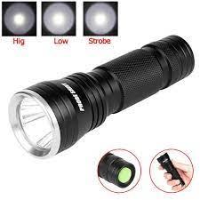 Đèn pin LED Q5 siêu sáng , quang thông 3000LUMEN , 3 Chế Độ Sáng , Màu Bạc