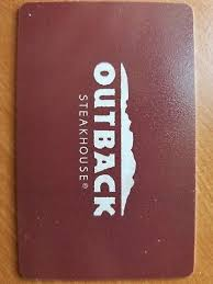 1 of 2 100 outback gift card