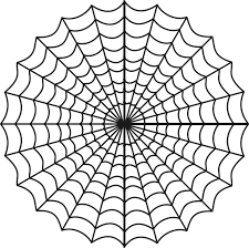 Small Picture Free Printable Spider Web Coloring Pages For Kids In Symmetrical