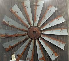 farmhouse windmill metal wall decor 47 inch large art 570x498 distinctive