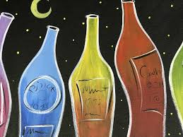 paint and sip wine bottle painting presented by creative spirits vino loco wine and bar flagstaff365 com a vibrant arts community events calendar