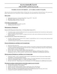 Coursework On Resume Awesome Alexander R Leon Resume