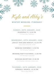 Order Of Events Wedding Template Sequence Free