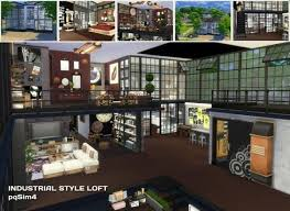 Small Picture PQSims4 Industrial Style Loft Sims 4 Downloads the sims 4