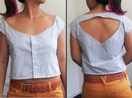 diy cut out shirt shirt transformation 2