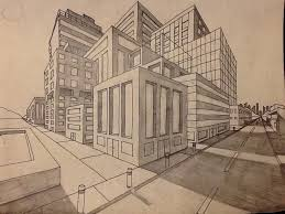 perspective drawings of buildings. Perfect Buildings Drawn Building Vanishing Point Two Point Perspective Drawing Inside Drawings Of Buildings P