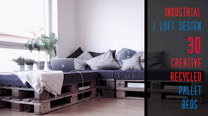30 diy recycled pallet bed frame designs