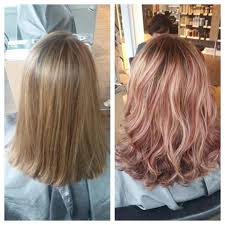 Rose Gold Highlights Ombre
