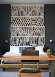 textured effect an over sized macrame wall hanging by us designer sally england