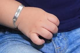 cool engraved baby bracelet gold silver uk tiffany bangle christening id boy