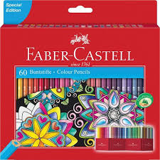 Faber Castell Classic Colour Chart Classic Colour Colour Pencil Cardboard Wallet Of 60