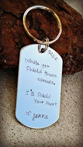 while you shield these streets i ll shield your heart gift for police officer police wife police keychain sheriff wife trooper cuteness