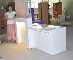 desk reception salon used for receptionist desks free regarding salons remodel 8