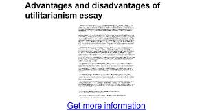 advantages and disadvantages of utilitarianism essay google docs