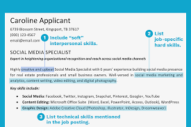 resume example for skills section how to write a resume skills section