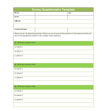 example of questionnaire format 30 questionnaire templates word template lab