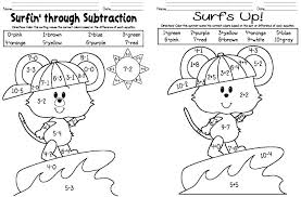 Fun Subtraction Worksheets Grade Games For Graders Addition And Full