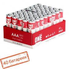<b>Батарейка AAA SmartBuy</b> ONE LR03/40 Alkaline, 40шт (SOBA ...