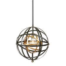 sphere pendant light. Uttermost Rondure 1 Light Sphere Pendant : Lighting Etc
