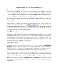 richmond body works top three qualities of a good auto body repair shop 1 638 jpg cb 1488276335